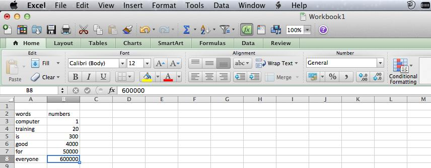 Selecting Cells In order to add data to your worksheet, you need to select cells. Selected cells have a thick line around them. There are many ways to select cells. The table below lists some of them.