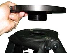 Unfold tripod, Remove Threaded ring from adapter plate (Fig. 1) 2.