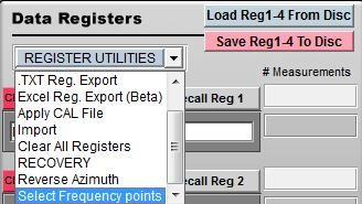 Register Utilities The register utility pulldown contains a number of tools for working with registry data. these tools will help you perform data functons including export, import, and merge.