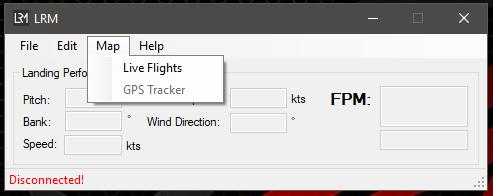 THE MAP MENU MAP > LIVE LANDINGS Like with previous versions of the LRM client, the Live landings option opens the PC s default browser and shows a map of all aircrafts online.