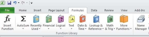 With the new Excel Formula Bar the majority of all formulas you may need are at your fingertips.