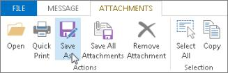 Open or save an email message attachment You can open an attachment from the Reading Pane or from an open message. After opening and viewing an attachment, you can save it.