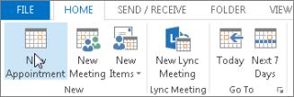 Create a calendar appointment In Outlook, appointments aren t the same as meetings.