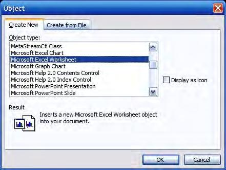 This means that changes made in Word are also transferred back to your original Excel workbook.