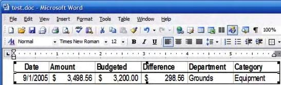 available to you in Word. So, if you copy a single row of Excel data and then Paste Special it into your Word document, Word will size the Excel window such that you see only the row you pasted.