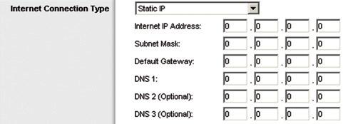 Automatic Configuration - DHCP The default Internet Connection Type is set to Automatic Configuration - DHCP (Dynamic Host Configuration Protocol).