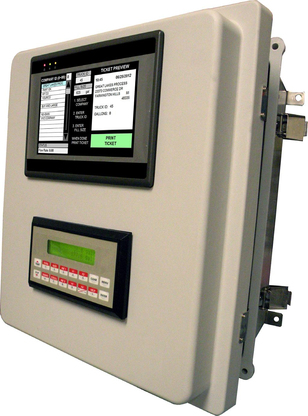 The Batch Control System Consists of: A choice of flow computer/batch controllers to suite your specific application MMI8000
