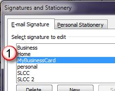 In the Choose default signature area select Microsoft Exchange. 2.