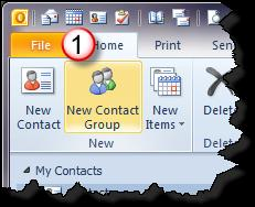 Create Contact Group (Distribution List) A contact group provides an easy way to send e-mail messages to a group of people.