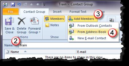Note: You can create a contact group in the SLCC Global Address List. However, this can take some time as it has to go through an approval process.