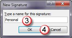 To Create a Signature, do the following: Open the Stationary and Signatures dialog box as described in Setting the Default Font for E-mails section. 1.