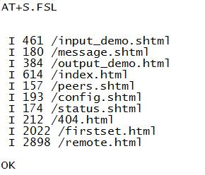 the module AT commands implementing http post and http get are available remote pages can be read over the serial port or