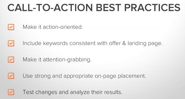Call to Actions When analyzing the effectiveness of a CTA, a good goal to aim for is a 1-to-2 percent click through rate.