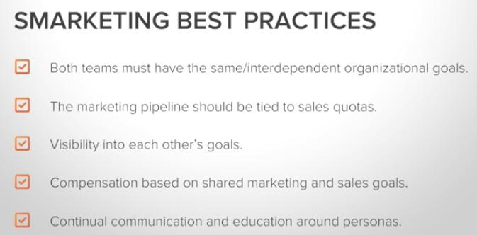 marketing and sales teams around common goals