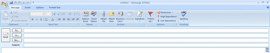 NCMail: Outlook 2007 Email User s Guide 15 A Print Menu Screen will appear where you can select the