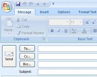 NCMail: Outlook 2007 Email User s Guide 17 Address Books When you have clicked-on Reply, Reply to All, or Forward as indicated on Pages 11 and 12 or created a new e-mail message, Page 14, you will
