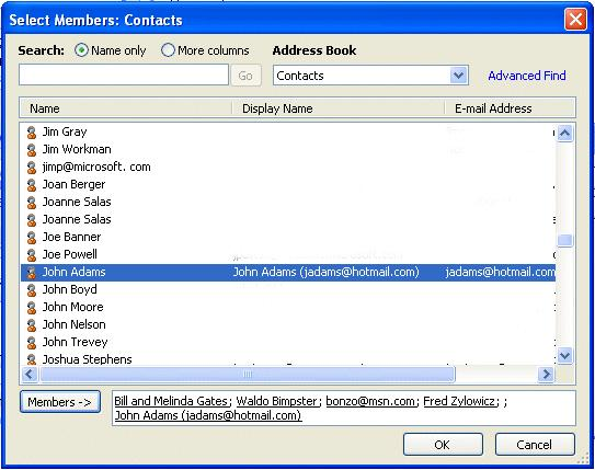 NCMail: Outlook 2007 Email User s Guide 27 By using either the Global Address List, or your Contacts you can create your Distribution list.
