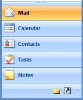 Folders NOTE: For Outlook 98, 2000 and XP/2002 users, you probably noticed that the Outlook Bar, on the left of the screen, had been replaced by a whole new folder and icon area (Navigation Pane).