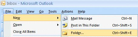 NCMail: Outlook 2007 Email User s Guide 30 You can create special folders called Personal Folders for various groups of e-mail (some of these on the right are Microsoft, Dell,