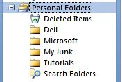 NCMail: Outlook 2007 Email User s Guide 31 Notice that a new Personal Folder (My Junk) has been added to your Personal folder area.