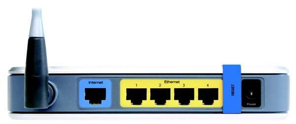 The Internet port is where you will connect your broadband Internet connection, if you are using broadband WAN service.