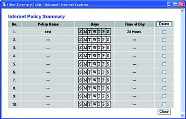 Decide which days and what times you want this policy to be enforced. Select the individual days during which the policy will be in effect, or select Everyday.