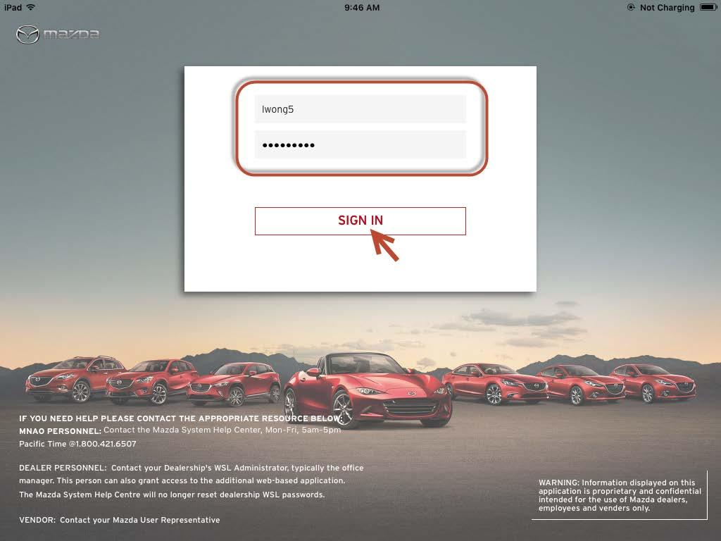 Updated Page Of Mazda Sales X App User Guide PDF - Wsl mazda