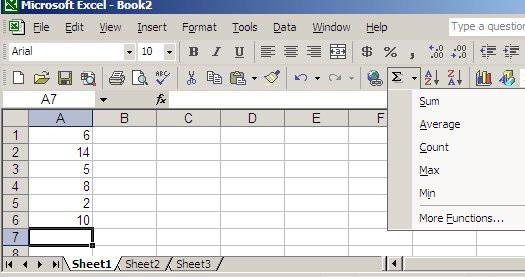 Table 3. Operator precedence in Excel.