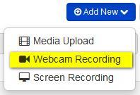 S E C T I ON 6 Recrding frm Webcam Use the Recrd frm Webcam feature t create webcam media such as welcme