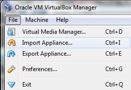 Figure 4 ODI 12c VirtualBox Import name Import the Appliance into VirtualBox 1.