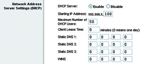 The Router can be used as a DHCP server for your network. A DHCP server automatically assigns an IP address to each computer on your network.