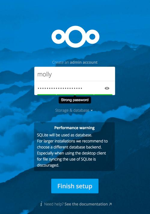 You re finished and can start using your new Nextcloud server. Of course, there is much more that you can do to set up your Nextcloud server for best performance and security.