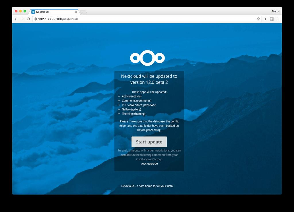 Nextcloud Server Administration Manual, Release 10 Command line based upgrade