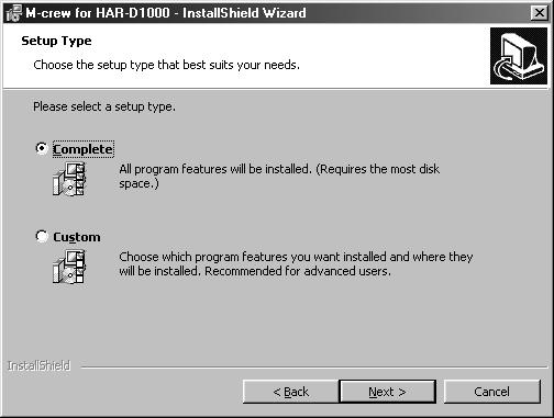 This option does not allow you to specify the folder in which the M-crew for HAR-D1000 files