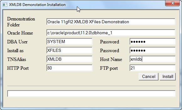 Perform the Installation The installer application provides a simple GUI interface that can be seen below Verify that the pre-populated values are appropriate for your installation and supply the