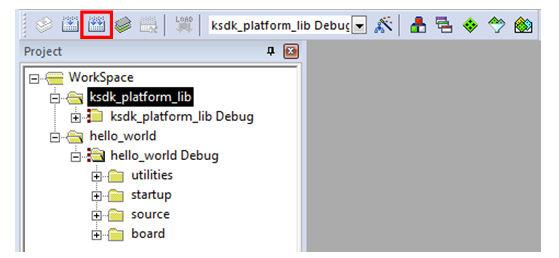Run a demo using Keil MDK/μVision Figure 19. Build the platform library 5. When the build is complete, the library (libksdk_platform.