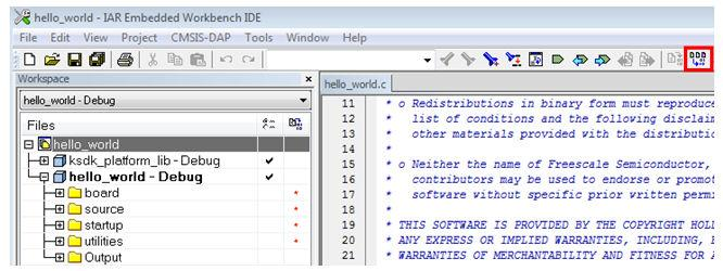 An easy way to check whether the library is present is to expand the Output folder in the ksdk_platform_lib project.