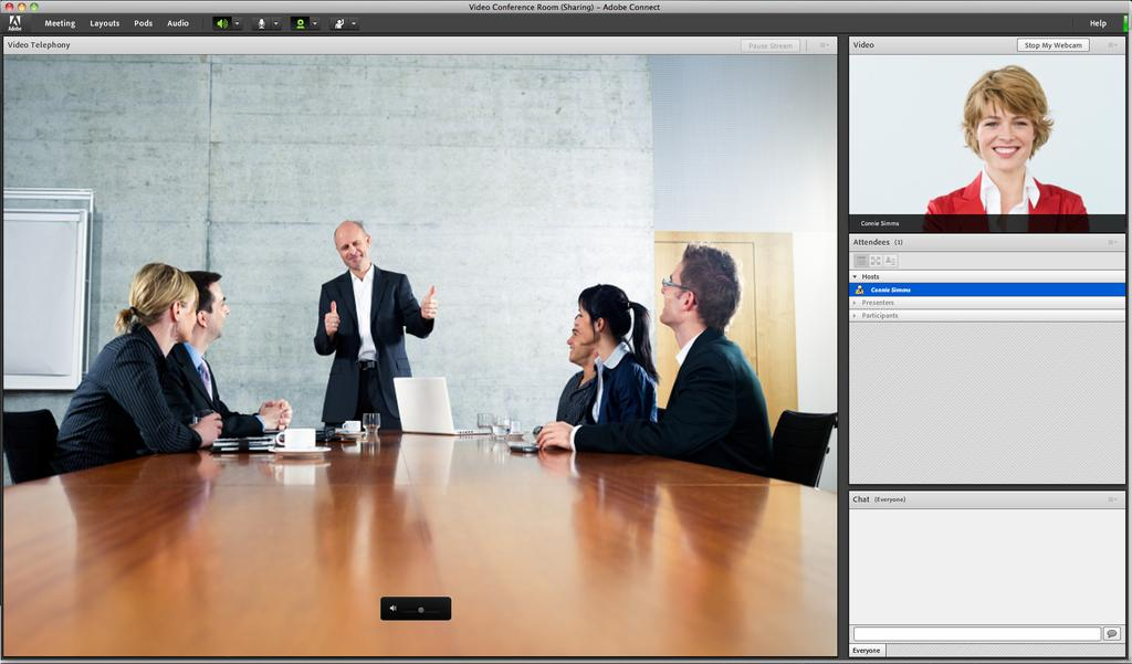 The ease of integrating video conferencing hardware systems with Adobe Connect is a clear benefit.