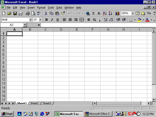 Basics of MS Excel :: 229 numbers). The letters and numbers of the columns and rows (called labels) are displayed in gray buttons across the top and left side of the worksheet.