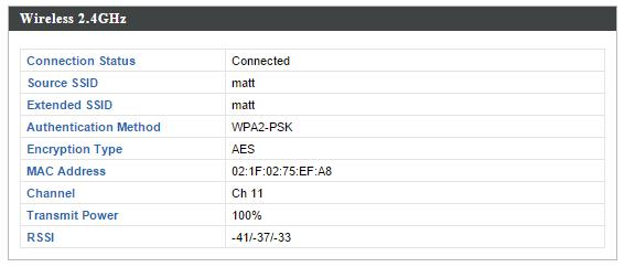 Wireless 2.4GHZ (5GHz) / SSID SSID Displays the SSID name(s) for the specified frequency. Authentication Displays the authentication method for the Method specified SSID. See IV-3.