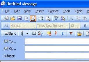 NCMail: Outlook 2003 Email User s Guide 14 When you have completed your e-mail message, click-on the Send button in the upper left hand corner of the screen.