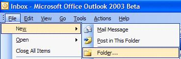 NCMail: Outlook 2003 Email User s Guide 28 Creating Personal Folders NOTE: Personal folders are not stored on the NCMail system, therefore they will