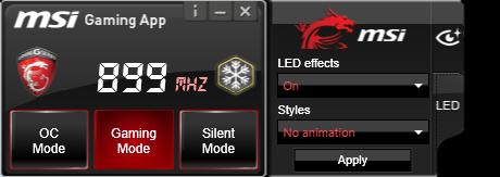 MSI Gaming App Provides easy access to