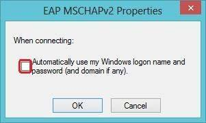 1.8 In the Protected EAP Properties page: Uncheck Verify the server s identity