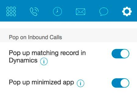 RingCentral for Microsoft Dynamics CRM User Guide Using RingCentral for MS Dynamics 365 7 Region If you want to dial local numbers using the RingCentral for MS Dynamics 365 app, please specify the