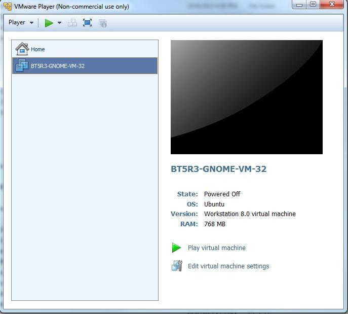Quick steps to installing Backtrack 5 and VMware player 1. Download VMware www.vmware.com/products/player 2.