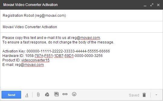 To ensure a quick reply from our activation server, please do not alter the message subject or body Step 4: Enter Your