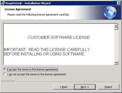 2. In the License Agreement window (Figure 17), accept the terms of the license