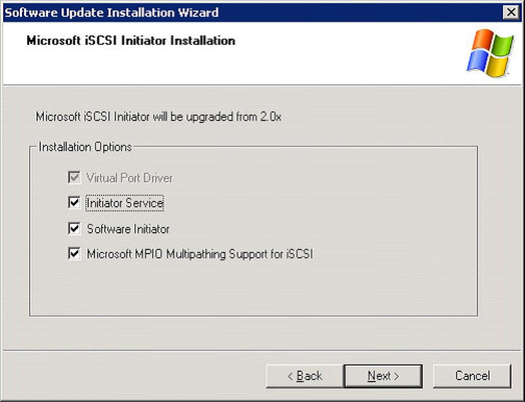 2. In the installation options window (Figure 4), select the following options and click Next: