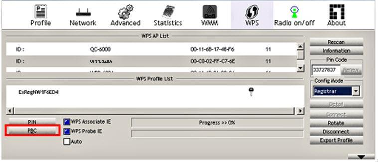 Then press and hold the WPS button on your wireless client for 1 second.